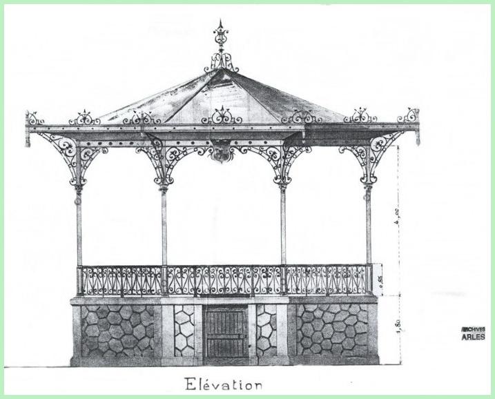 plan Arles kiosque 1903