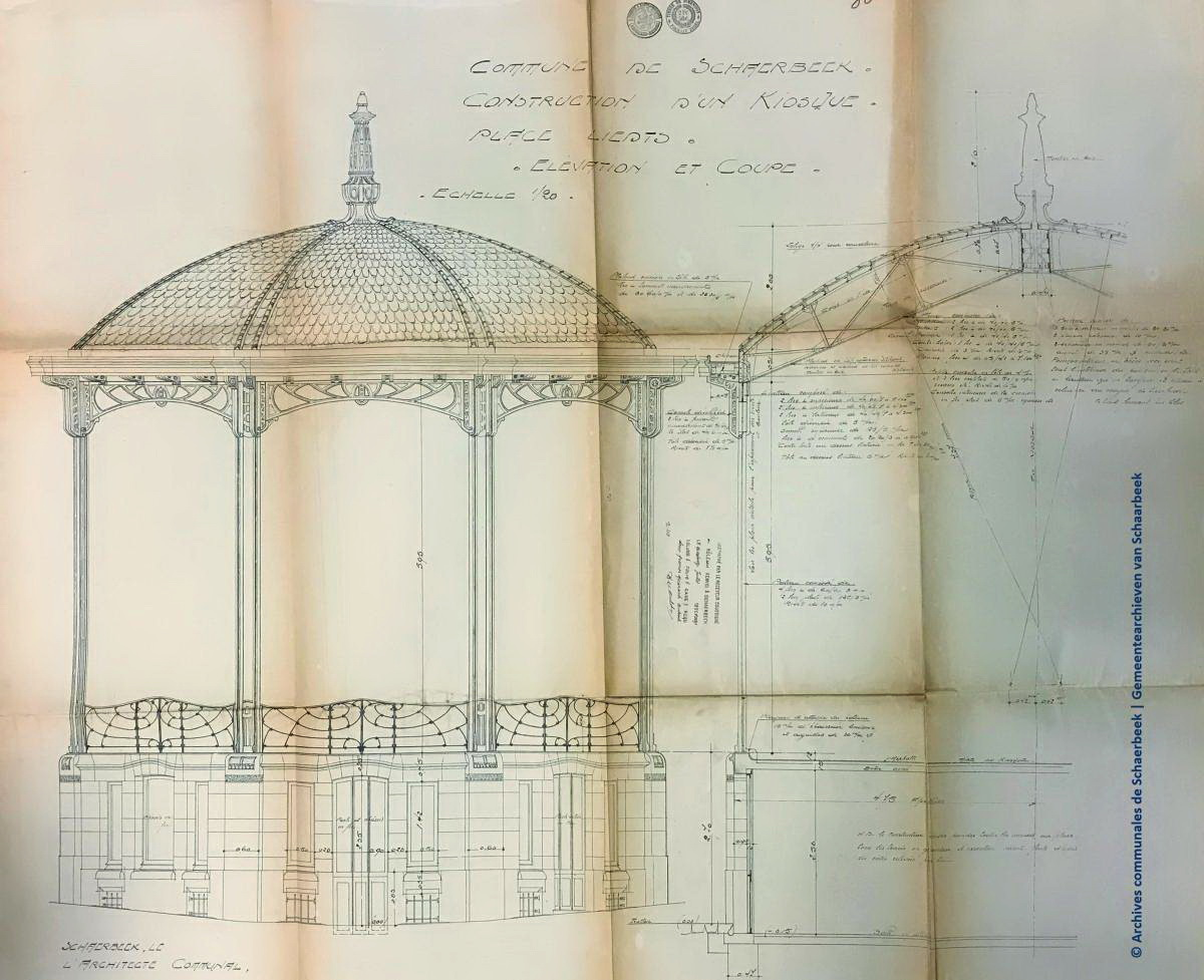 Schaerbeek plan_coupe_du_kiosque 1